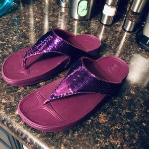 New fitflop Electra purple flip flops 9